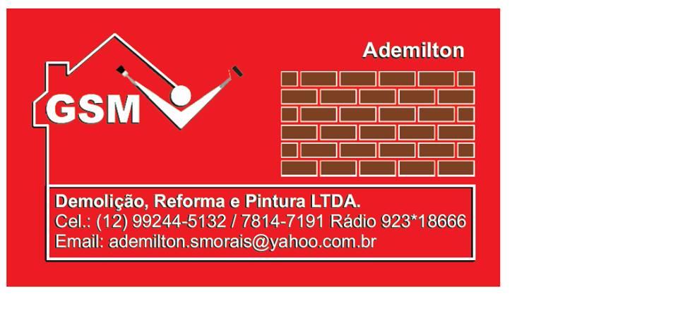 guia sjc, GSM PINTURA, REFORMA GERAL