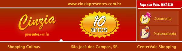 Cinzia Presentes - Listas de Casamento e de Presentes - São José dos Campos, SP