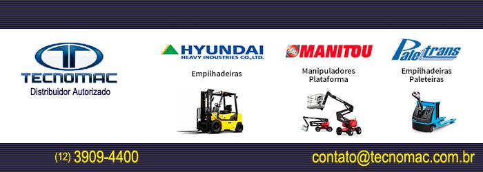 Empilhadeiras Hyundai - Distribuidor Autorizado: Tecnomac - São José dos Campos, SP