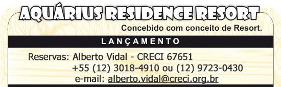 Aquarius Residence Resort - Concebido para você! - São José dos Campos, SP
